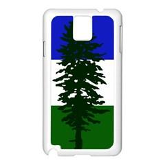 Flag Of Cascadia Samsung Galaxy Note 3 N9005 Case (white) by abbeyz71