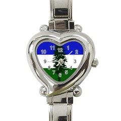Flag Of Cascadia Heart Italian Charm Watch by abbeyz71