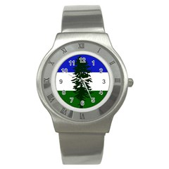 Flag Of Cascadia Stainless Steel Watch by abbeyz71