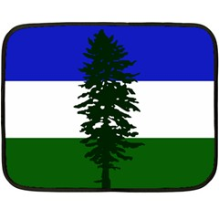 Flag Of Cascadia Double Sided Fleece Blanket (mini)  by abbeyz71