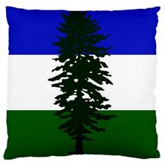 Flag Of Cascadia Large Cushion Case (two Sides) by abbeyz71