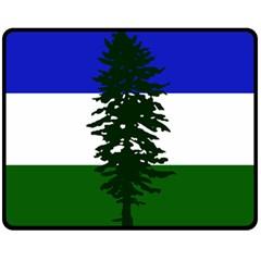 Flag Of Cascadia Double Sided Fleece Blanket (medium)  by abbeyz71