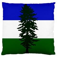 Flag Of Cascadia Large Flano Cushion Case (two Sides) by abbeyz71