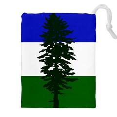 Flag Of Cascadia Drawstring Pouches (xxl) by abbeyz71
