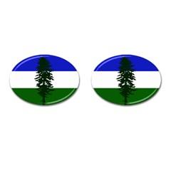 Flag Of Cascadia Cufflinks (oval) by abbeyz71