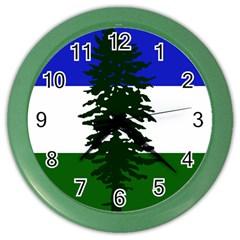 Flag Of Cascadia Color Wall Clocks by abbeyz71