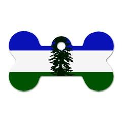 Flag Of Cascadia Dog Tag Bone (one Side) by abbeyz71