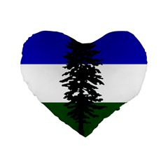 Flag Of Cascadia Standard 16  Premium Heart Shape Cushions by abbeyz71