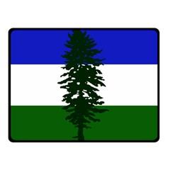 Flag Of Cascadia Double Sided Fleece Blanket (small)  by abbeyz71