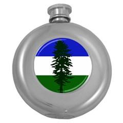Flag Of Cascadia Round Hip Flask (5 Oz) by abbeyz71