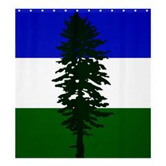 Flag Of Cascadia Shower Curtain 66  X 72  (large)  by abbeyz71