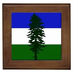 Flag 0f Cascadia Framed Tiles by abbeyz71