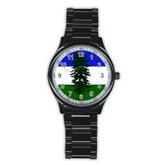 Flag 0f Cascadia Stainless Steel Round Watch by abbeyz71
