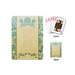 Art Nouveau Green Playing Cards (mini)  by 8fugoso