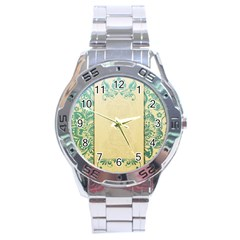 Art Nouveau Green Stainless Steel Analogue Watch by 8fugoso