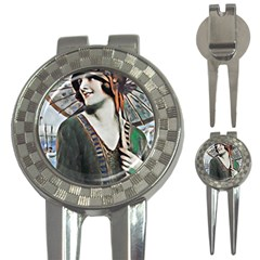 Lady Of Summer 1920 Art Deco 3 In 1 Golf Divots by 8fugoso