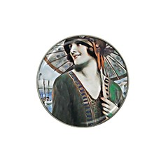 Lady Of Summer 1920 Art Deco Hat Clip Ball Marker by 8fugoso