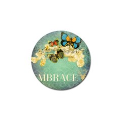 Embrace Shabby Chic Collage Golf Ball Marker by 8fugoso
