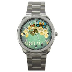 Embrace Shabby Chic Collage Sport Metal Watch by 8fugoso