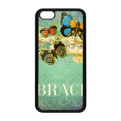 Embrace Shabby Chic Collage Apple Iphone 5c Seamless Case (black) by 8fugoso
