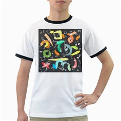 Repetition Seamless Child Sketch Ringer T Shirts by Nexatart