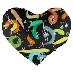 Repetition Seamless Child Sketch Large 19  Premium Flano Heart Shape Cushions by Nexatart