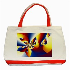Mandelbrot Math Fractal Pattern Classic Tote Bag (red) by Nexatart