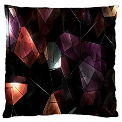 Crystals Background Design Luxury Large Flano Cushion Case (two Sides) by Nexatart