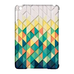 Background Geometric Triangle Apple Ipad Mini Hardshell Case (compatible With Smart Cover) by Nexatart