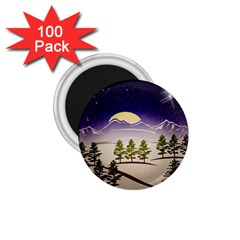 Background Christmas Snow Figure 1 75  Magnets (100 Pack)  by Nexatart