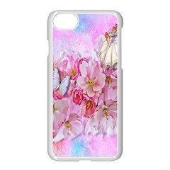 Nice Nature Flowers Plant Ornament Apple Iphone 7 Seamless Case (white) by Nexatart