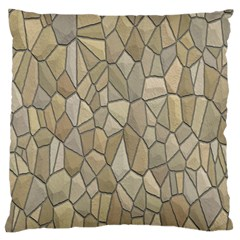 Tile Steinplatte Texture Large Flano Cushion Case (two Sides) by Nexatart