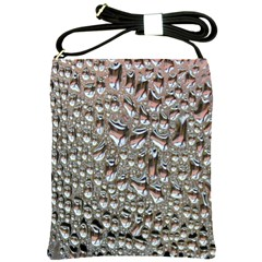 Droplets Pane Drops Of Water Shoulder Sling Bags by Nexatart