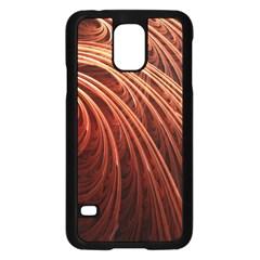 Abstract Fractal Digital Art Samsung Galaxy S5 Case (black) by Nexatart