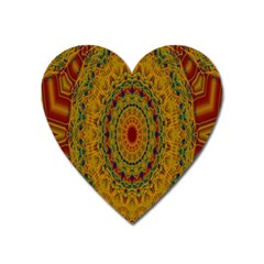 India Mystic Background Ornamental Heart Magnet by Nexatart