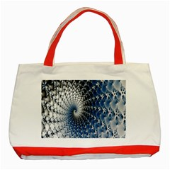 Mandelbrot Fractal Abstract Ice Classic Tote Bag (red) by Nexatart