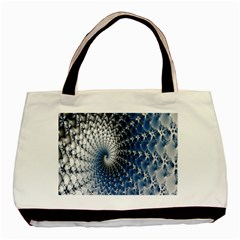 Mandelbrot Fractal Abstract Ice Basic Tote Bag (two Sides) by Nexatart