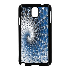 Mandelbrot Fractal Abstract Ice Samsung Galaxy Note 3 Neo Hardshell Case (black) by Nexatart