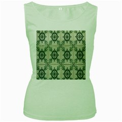 Jugendstil Women s Green Tank Top