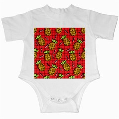 Fruit Pineapple Red Yellow Green Infant Creepers by Alisyart