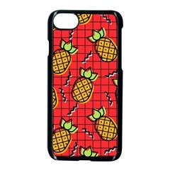 Fruit Pineapple Red Yellow Green Apple Iphone 7 Seamless Case (black) by Alisyart