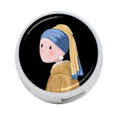 Girl With A Pearl Earring 4 Port Usb Hub (two Sides)  by Valentinaart