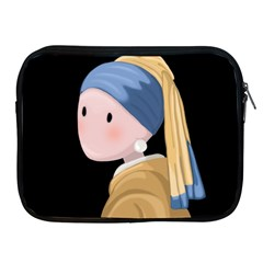 Girl With A Pearl Earring Apple Ipad 2/3/4 Zipper Cases by Valentinaart