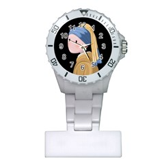 Girl With A Pearl Earring Plastic Nurses Watch by Valentinaart