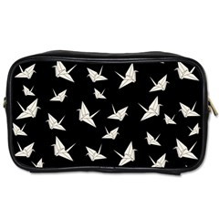 Paper Cranes Pattern Toiletries Bags by Valentinaart