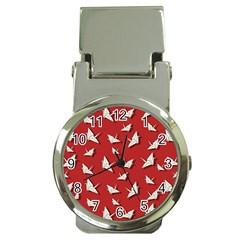 Paper Cranes Pattern Money Clip Watches by Valentinaart