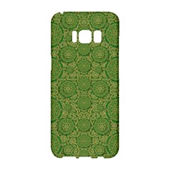 Stars In The Wooden Forest Night In Green Samsung Galaxy S8 Hardshell Case  by pepitasart