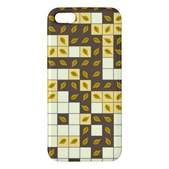 Autumn Leaves Pattern Iphone 5s/ Se Premium Hardshell Case by linceazul