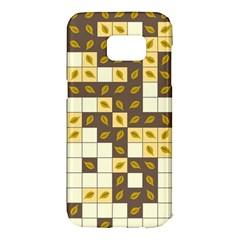Autumn Leaves Pattern Samsung Galaxy S7 Edge Hardshell Case