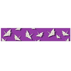 Paper Cranes Pattern Large Flano Scarf  by Valentinaart